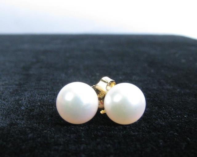 Classic Mikimoto pearl stud earrings #mikimoto #classic #timeless #wickliffauction