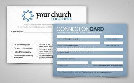Connection Card  Church Visitor Ideas    Churches