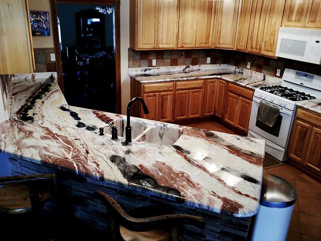 Corian To Marble Mountain Epoxy
