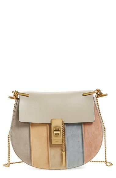 2c16bc98e70 CHLOÉ  Small Drew  Suede Stripe Crossbody Bag.  chloé  bags  shoulder bags   lining  crossbody  suede