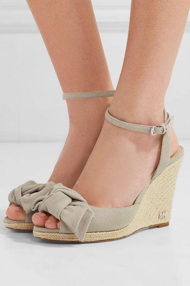6d47db7ca1f MICHAEL Michael Kors - Willa Suede Espadrille Wedge Sandals - Gray ...