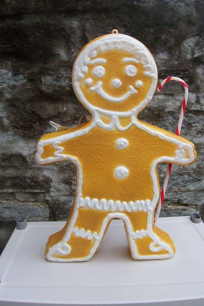 Christmas Gingerbread Boy/Girl / Candycane Blow Mold Yard Light Decoration Union