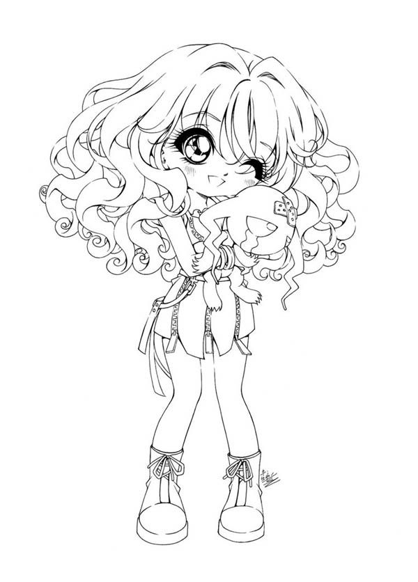 Girl Coloring Pages Chibi Coloring Pages Cute Coloring Pages