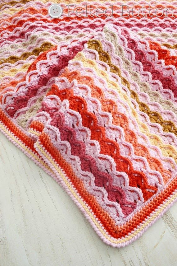 Confections Blanket Crochet Pattern by Susan Carlson of Felted ...