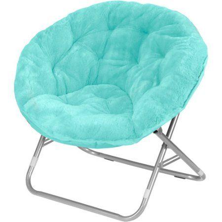 Mainstays Faux Fur Saucer Chair Multiple Colors Walmart Com