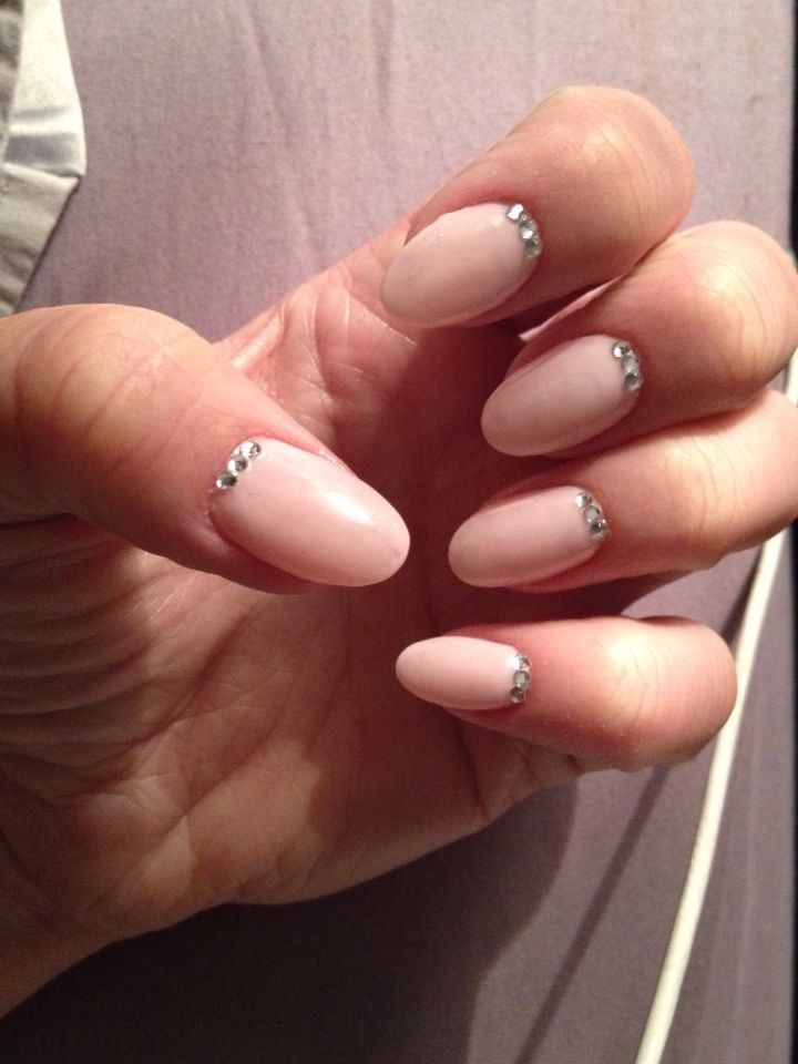 Oval Nails With Diamantes Opi Colour