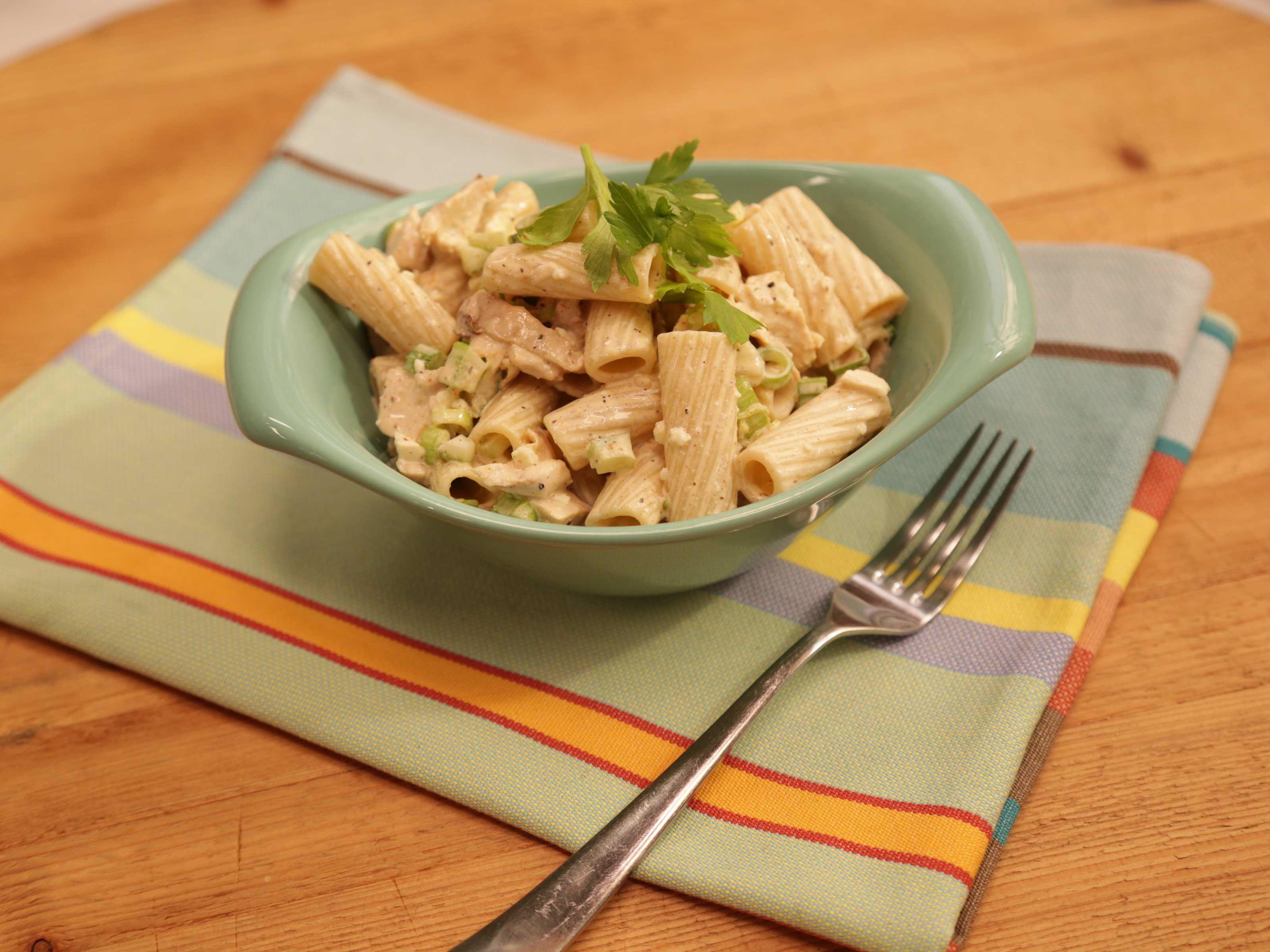 Buffalo chicken pasta salad recipe from the kitchen via food network buffalo chicken pasta salad recipe from the kitchen via food network forumfinder Choice Image
