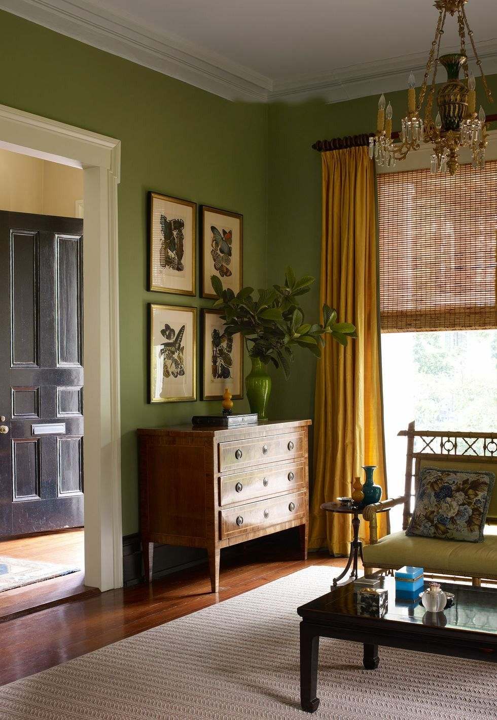 Julia Reed S New Orleans Home William Waldron Photo In 2020 Green Living Room Decor Living Room Green Olive Living Rooms #olive #green #and #brown #living #room