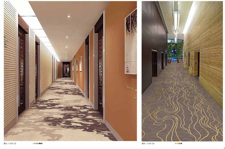 Hotel Carpet Room Rugs On Hallway Corridor