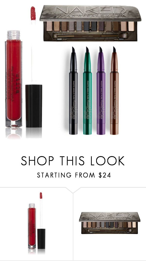 3 Makeup Trends For Fall 2015 by jessicahuffman on Polyvore featuring beauty, Smashbox, Urban Decay and Stila