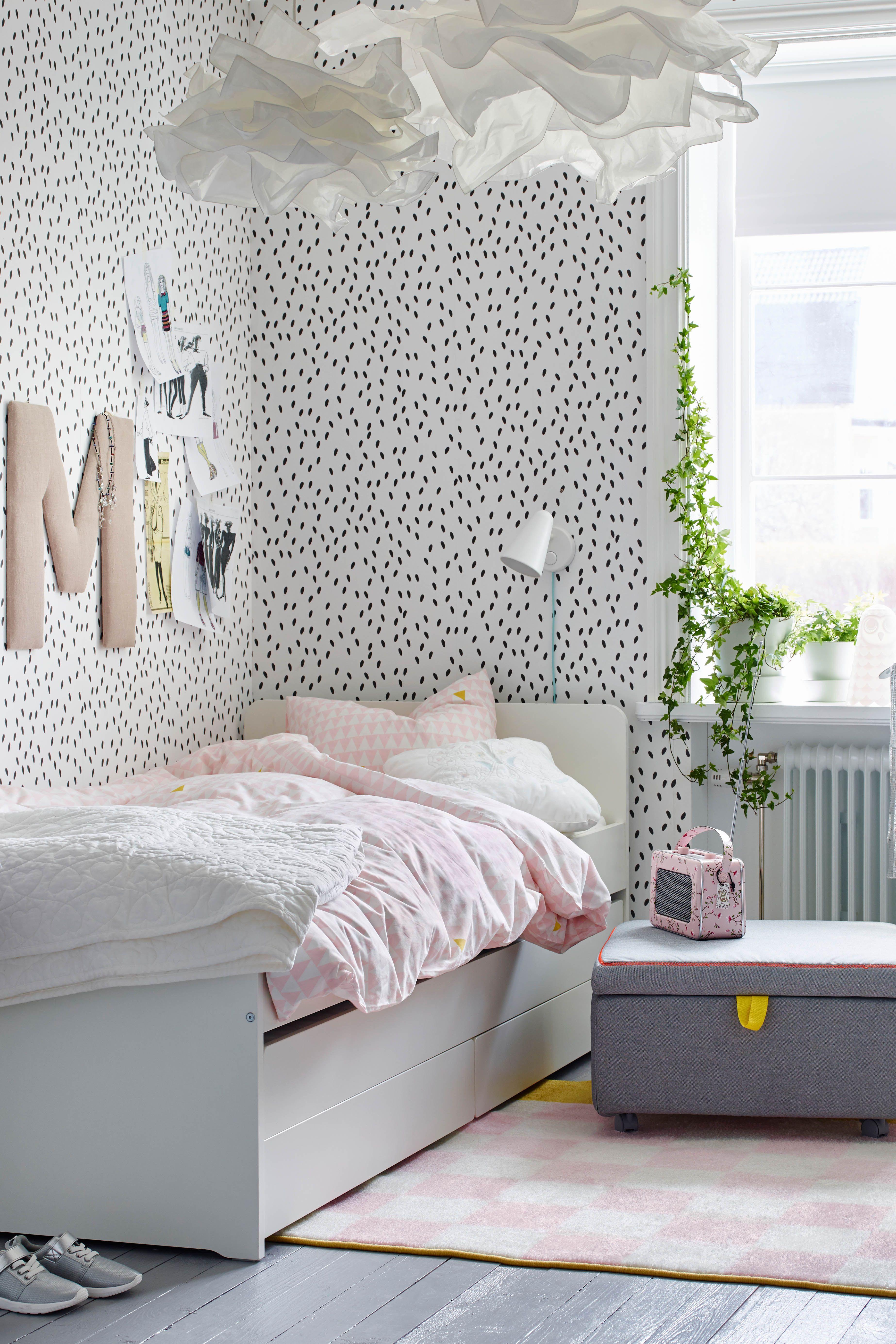 Slakt Bettgestell Unterbett Aufbewahrung Weiss Ikea Deutschland Zimmerdekoration Madchenzimmer Dekoration Raumideen Diy
