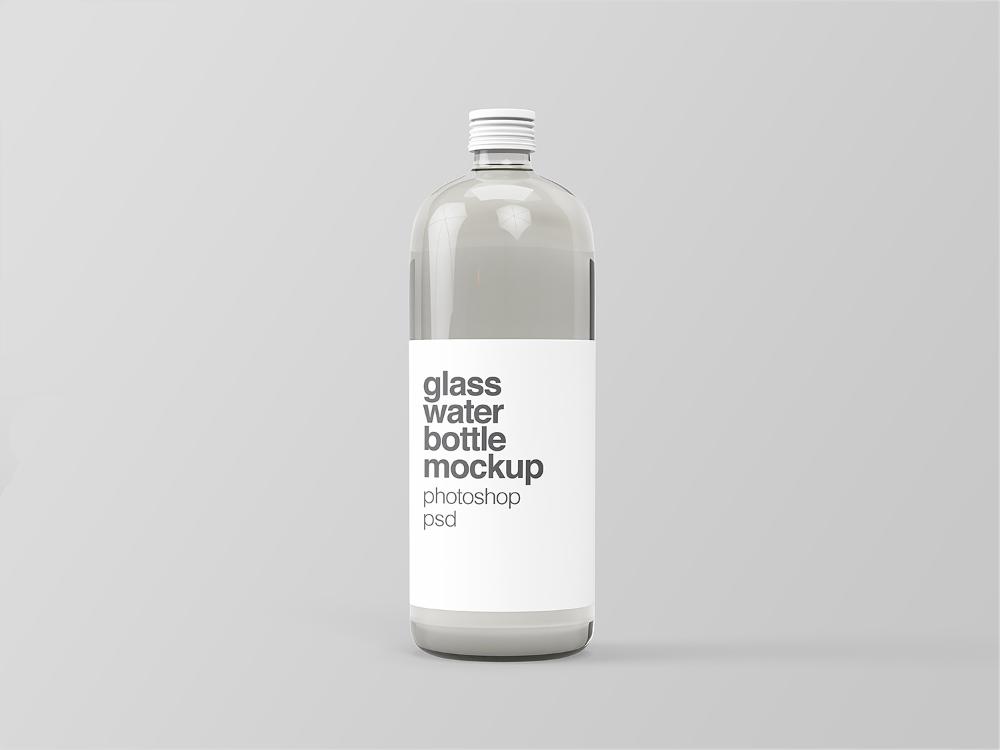 Free Glass Water Bottle Mockup Free Mockup Bottle Mockup Bottle Glass Water Bottle