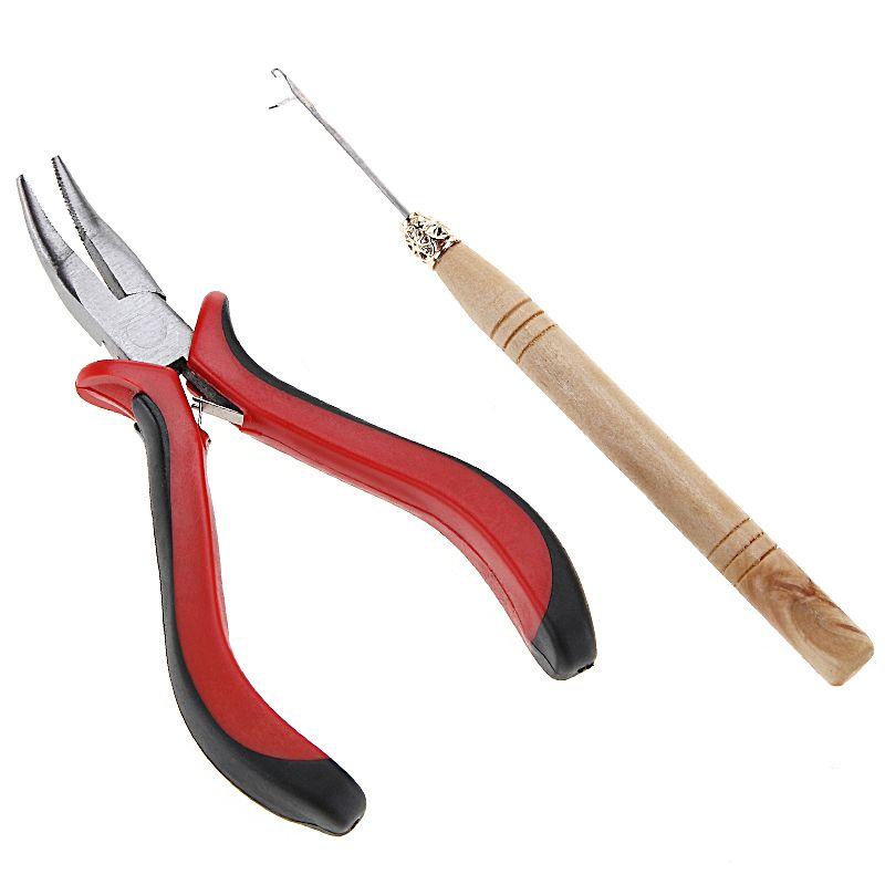 Pro Salon Feder Haarverlngerungswerkzeuge Gebogene Zangen Hook