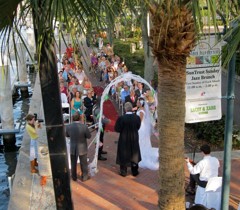 Outdoor Ceremony Along The New River With Reception To