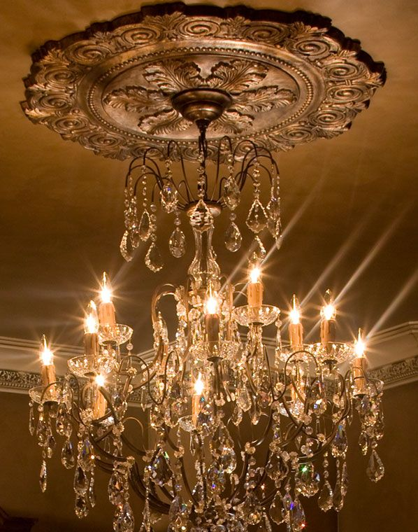 using center ceiling fixture to a chandeliers light luxury medallion of for ceilings chandelier install medallions how