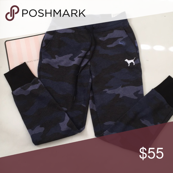 d88bee0831f0a VS Pink Blue Camo jogger Brand new with tag Bundle for discount PINK ...