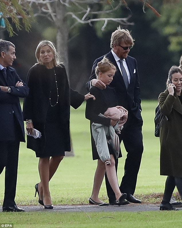 Dutch royals gather for funeral of Queen Maximas father