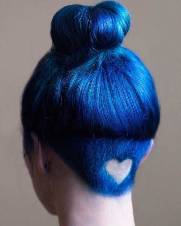 Dieses Perfekt Ausrasierte Herz Frisuren Bunte Haare Haar