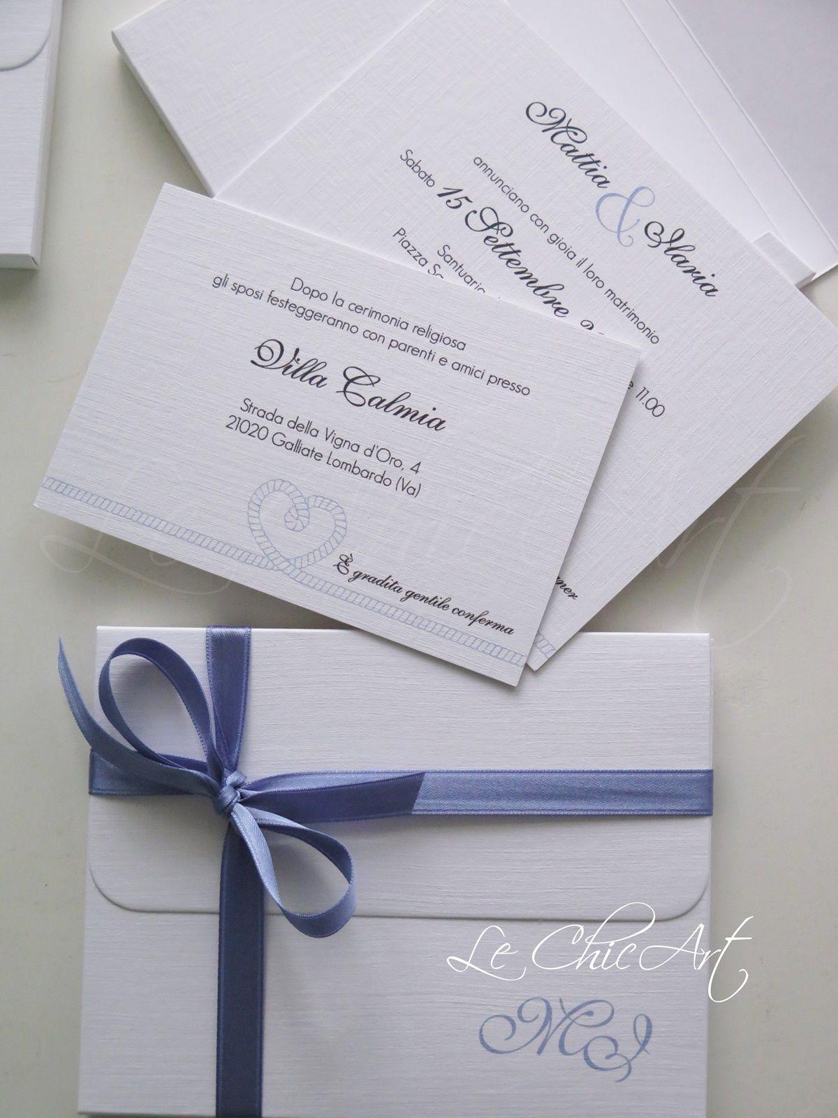 Partecipazioni Matrimonio Azzurro : Partecipazione matrimonio color avio tema mare partecipazioni