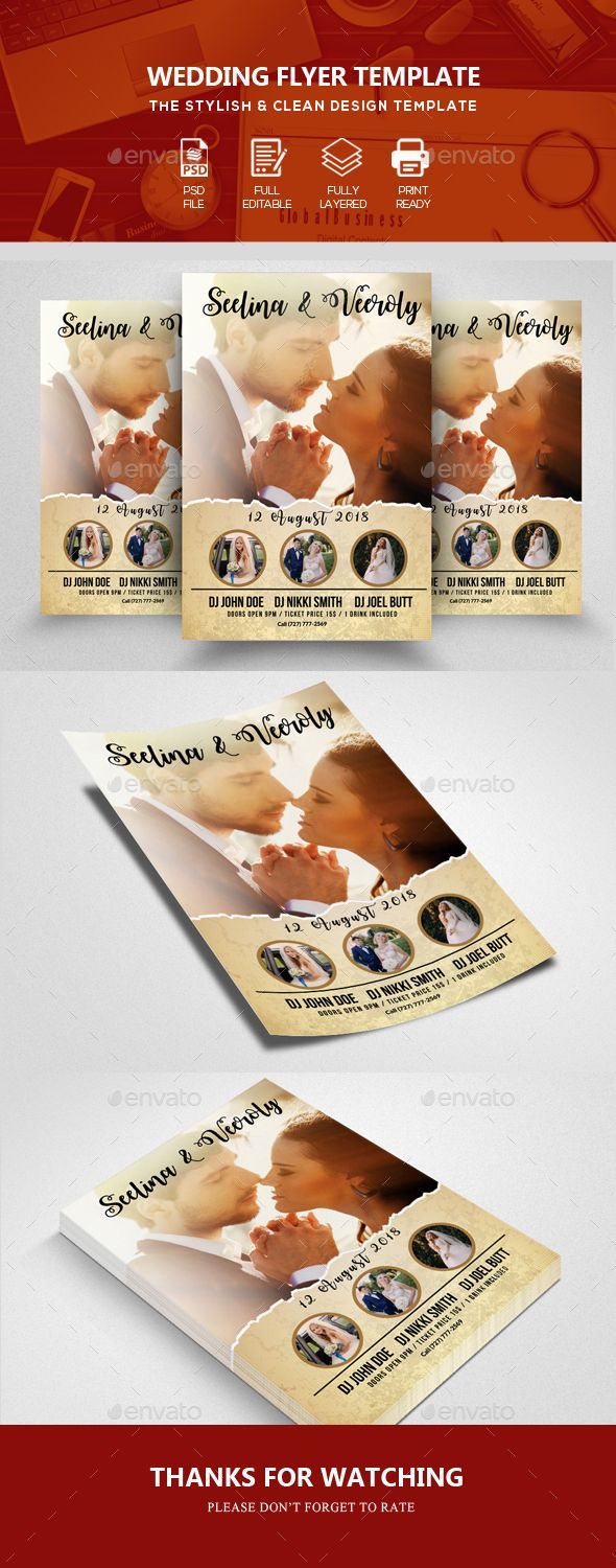 Wedding Flyer Templates  Flyer Template Template And Fonts