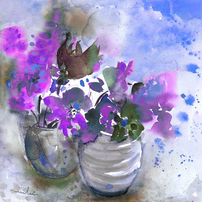 Purple Flower Painting