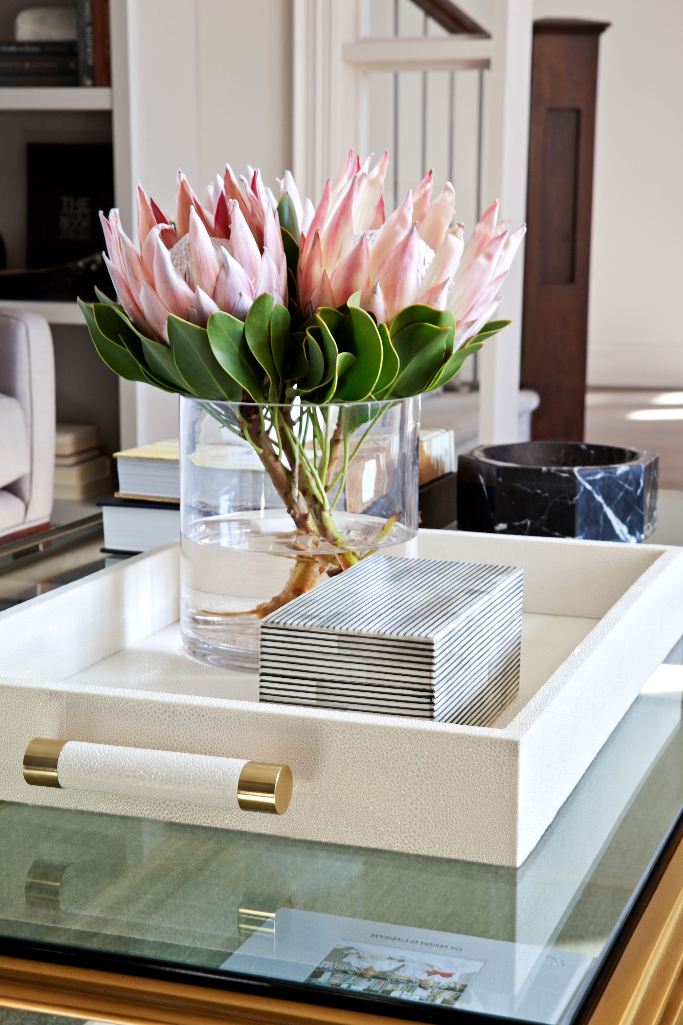 Accessories Pink Flowers Contemporary Decor Home Decor Accessories Decorating Coffee Tables