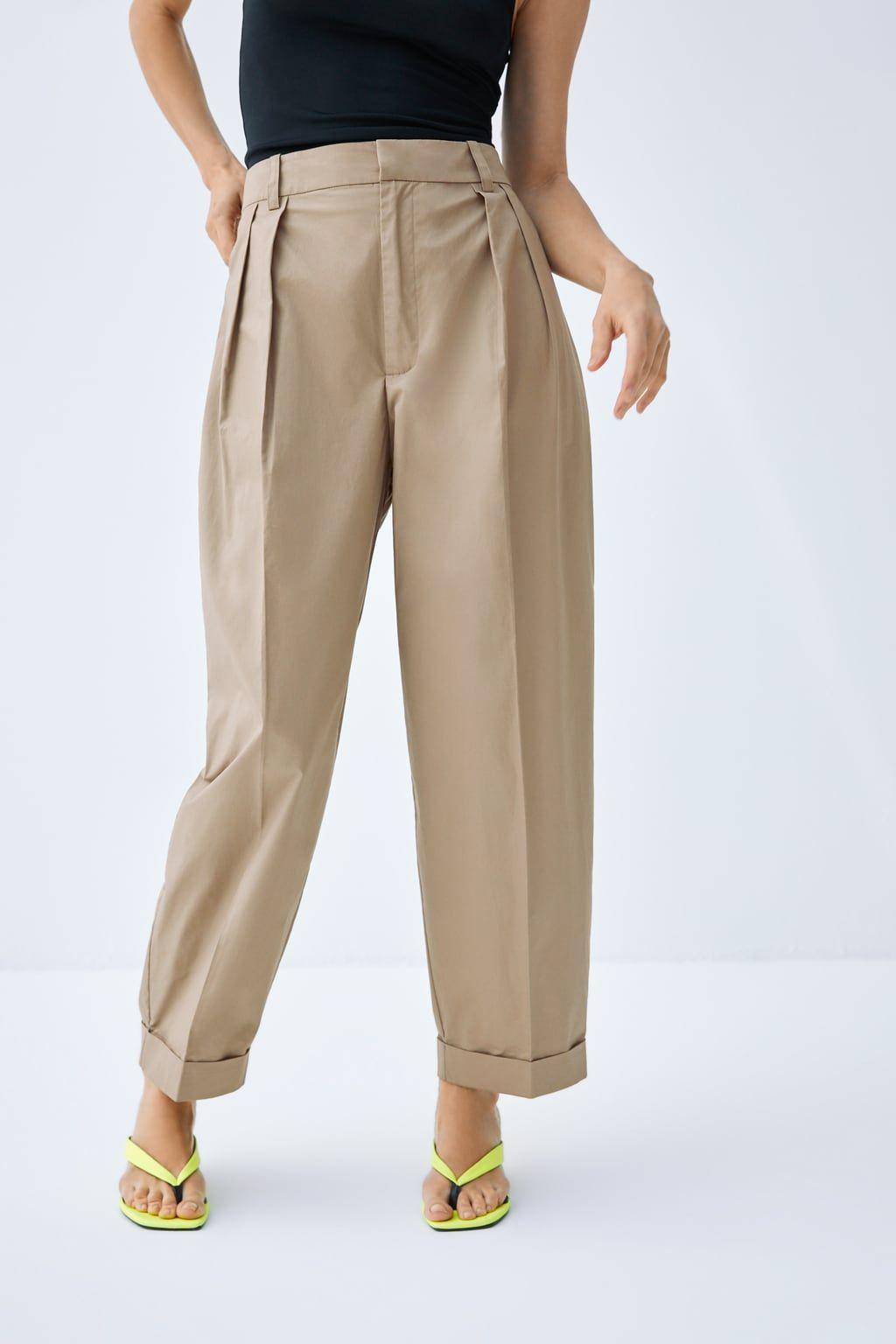 Hooded Pocket Vest Pants Poplin Trousers