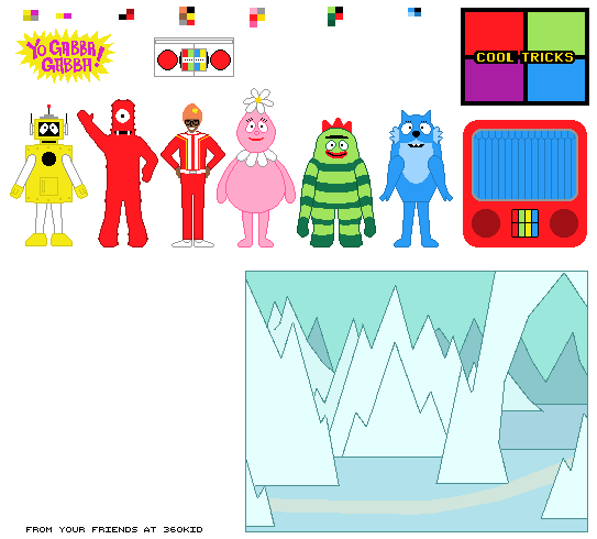 yo gabba gabba pictures to printable pictures |  to enlarge, Birthday invitations