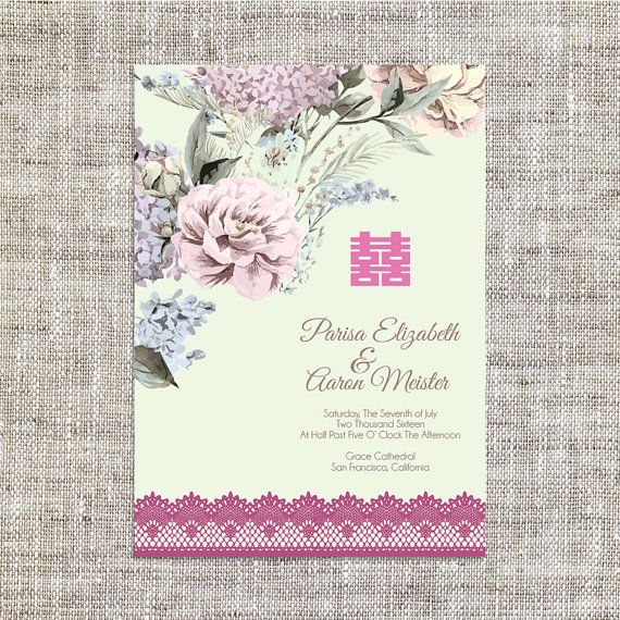 Diy printableeditable chinese wedding invitation card template items similar to diy printableeditable chinese wedding invitation card template instant downloadvintage elegant floral background double stopboris Image collections