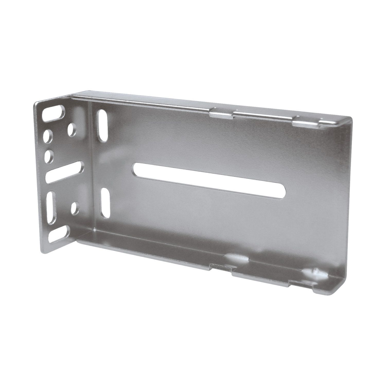 Rok Hardware Silver Finish Metal Rear-mounting Bracket for Ball Bearing Drawer Slides (Rok Rear Mounting Bracket for Ball Bearing Slides)