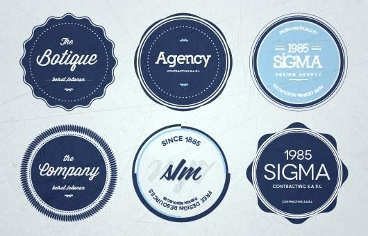 Retro Insignia Badge And Label Psd Files Design Freebies Vector Badge Template Free Psd Design
