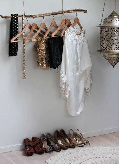 Decoracion facil percheros abiertos para colgar la ropa for Perchero metal adecuado para colgar