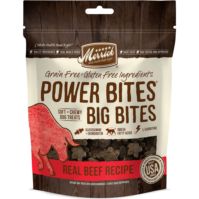 Merrick Backcountry Power Bites Real Beef Recipe Dog Treats 14 Oz