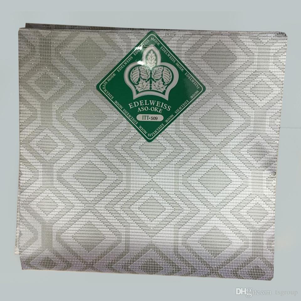 Silver Aso Oke Headtie,Nigeria Head Tie,Afircan Aso Oke Fabric for African Head…