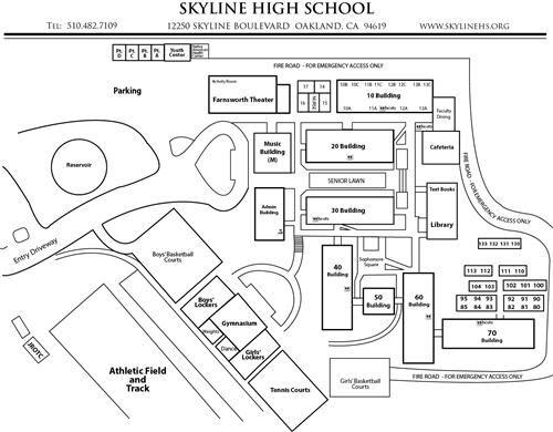 Skyline Campus Map Oakland Maps