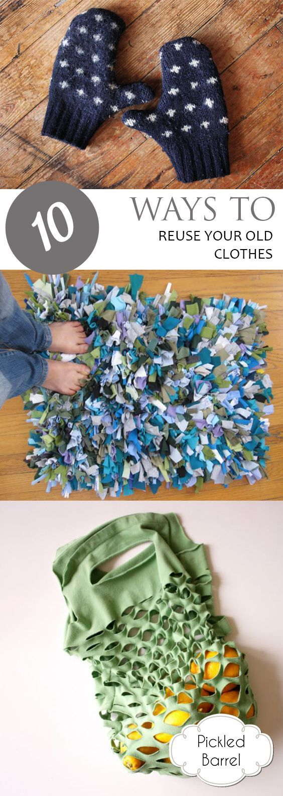 10 Ways To Reuse Your Old Clothes Handmade Craft Ideas Reuse Old