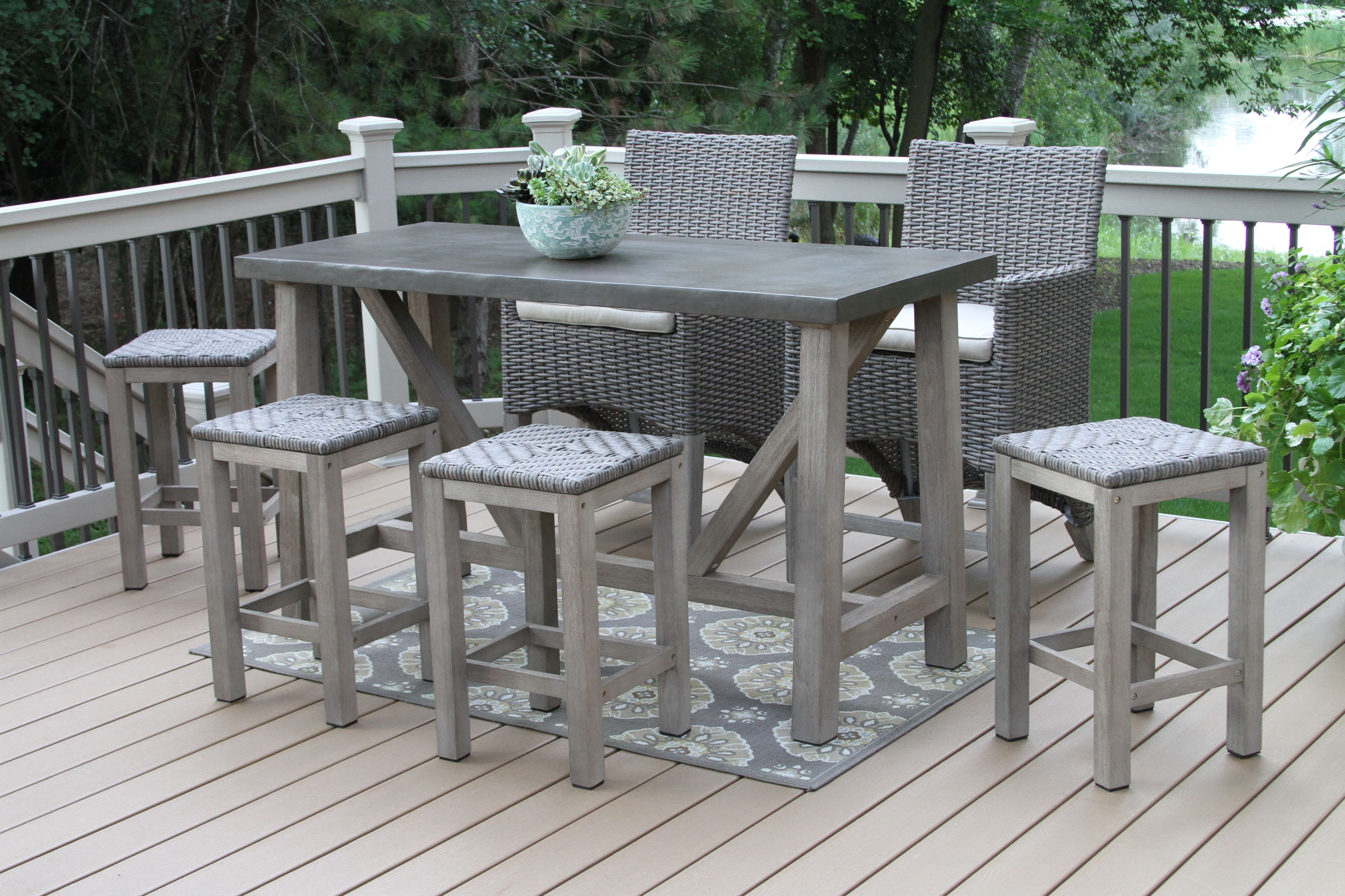 Ever Beautiful Counter Height Outdoor Table And Chairs Outdoor