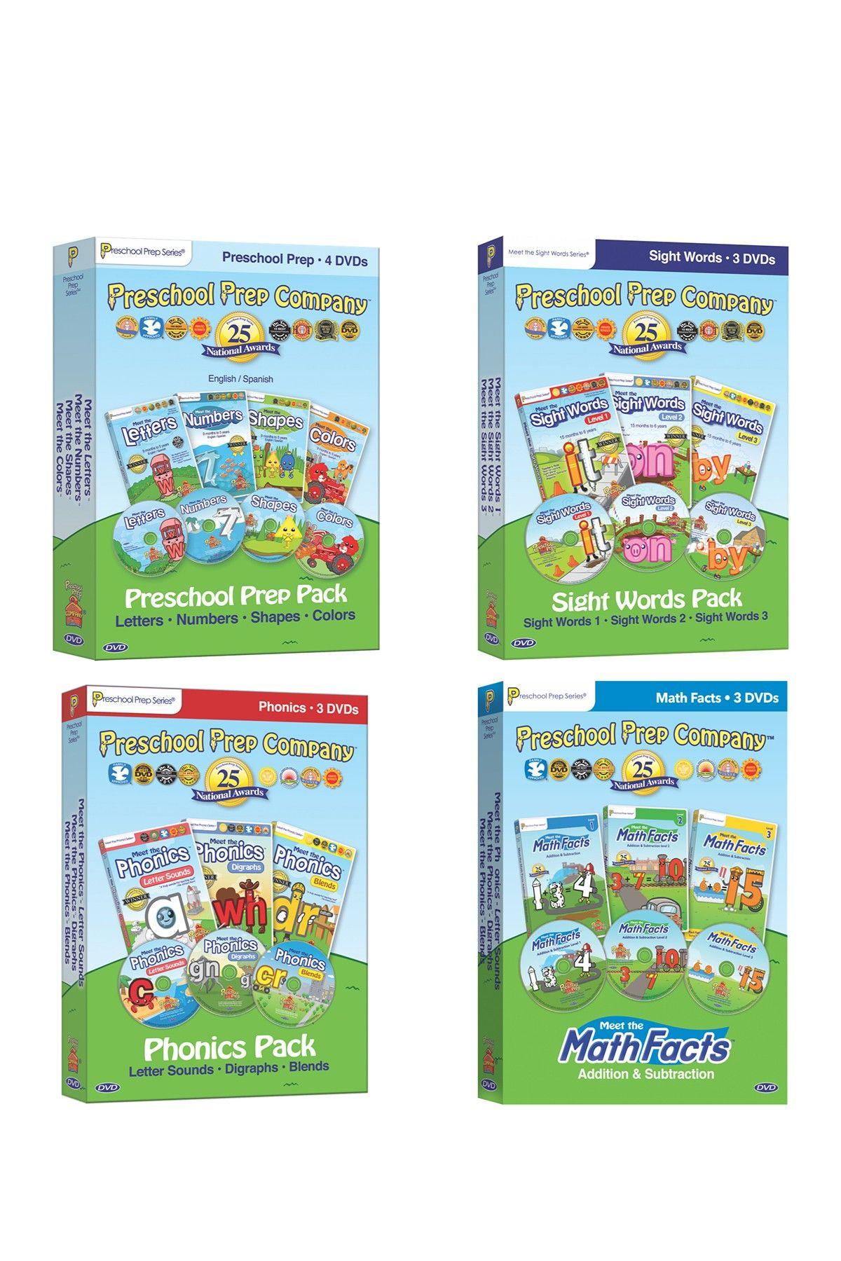 Preschool Prep Company 13-Pack DVD Collection: Basics, Sight Words ...