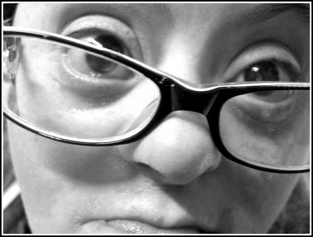Foto de mirada de adulto con síndrome de Down