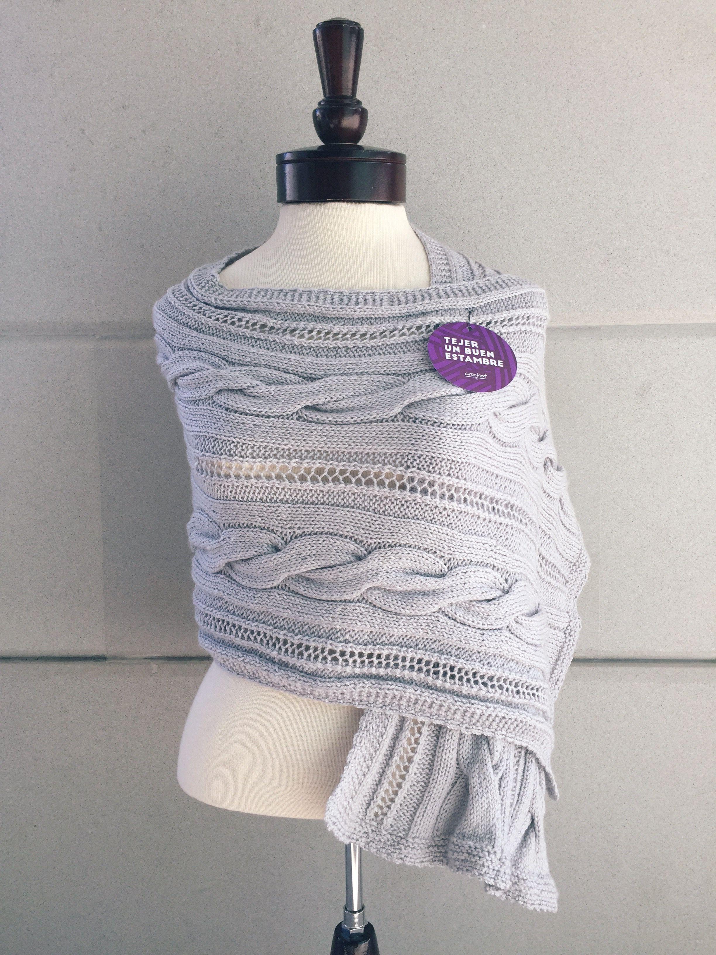 PATRON - CHAL TRENZAS CONDOR - Estambres Crochet | Yarn | Pinterest ...