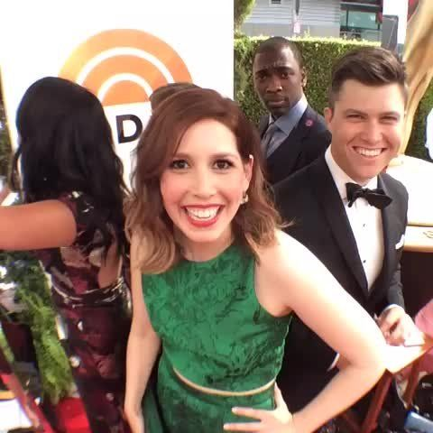 Snl Cast Members Have Fun On The Red Carpet Vanessa Bayer Cecily Strong Aidy Bryant Jay Pharaoh And Col Vanessa Bayer Snl Cast Members Saturday Night Live