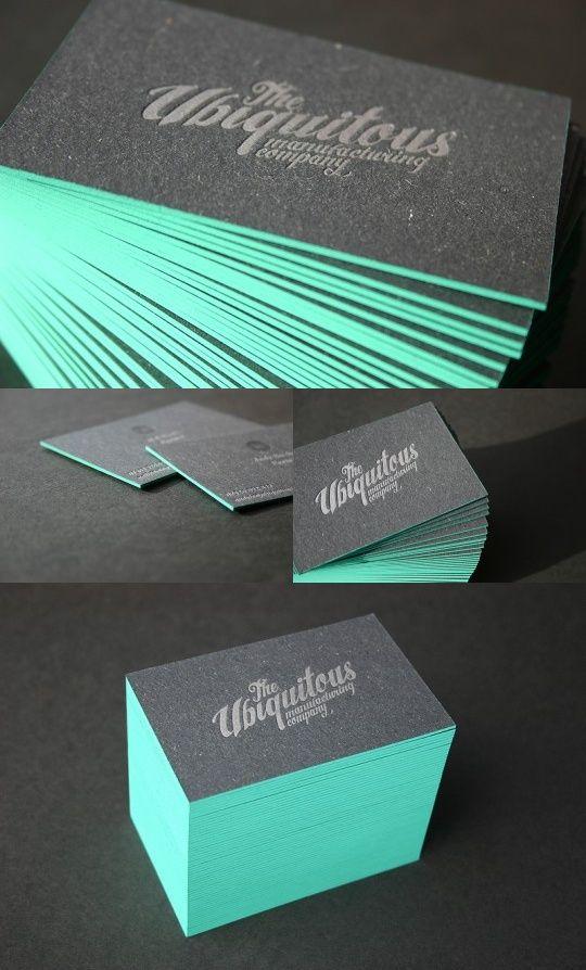 Paint the edges hot letterpress branding identity for Visitenkarten ideen