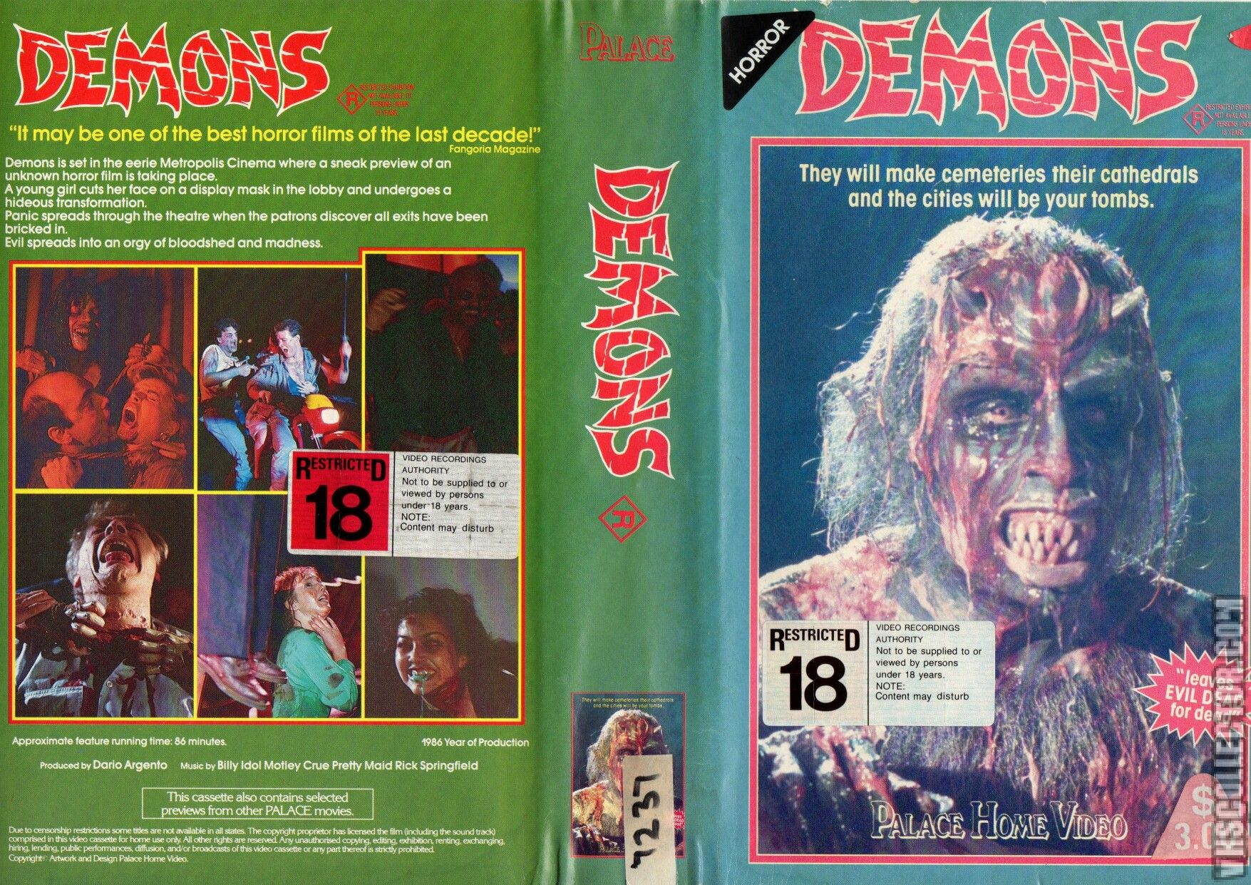Demons (Cover VHS) | Movie covers, Horror, Horror movies