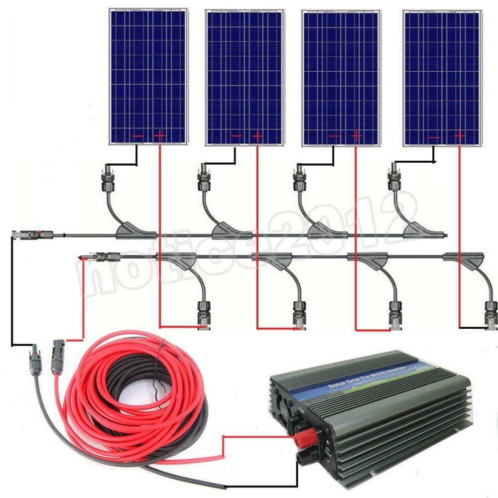 medium resolution of mouse over image to zoom complete grid tie solar system 300w 400w 500w 600w 1kw solar panel w inverter