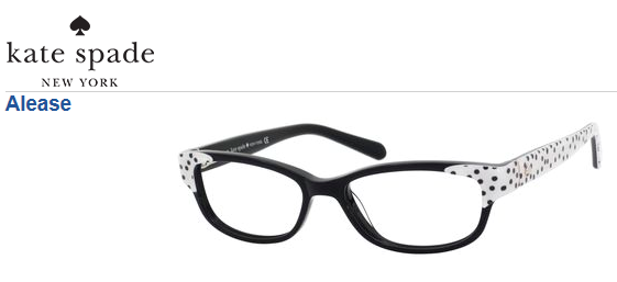 93d3b1f983 Kate Spade Alease - Fun polka dots on the temples  KateSpade  Eyewear   Glasses  Frame