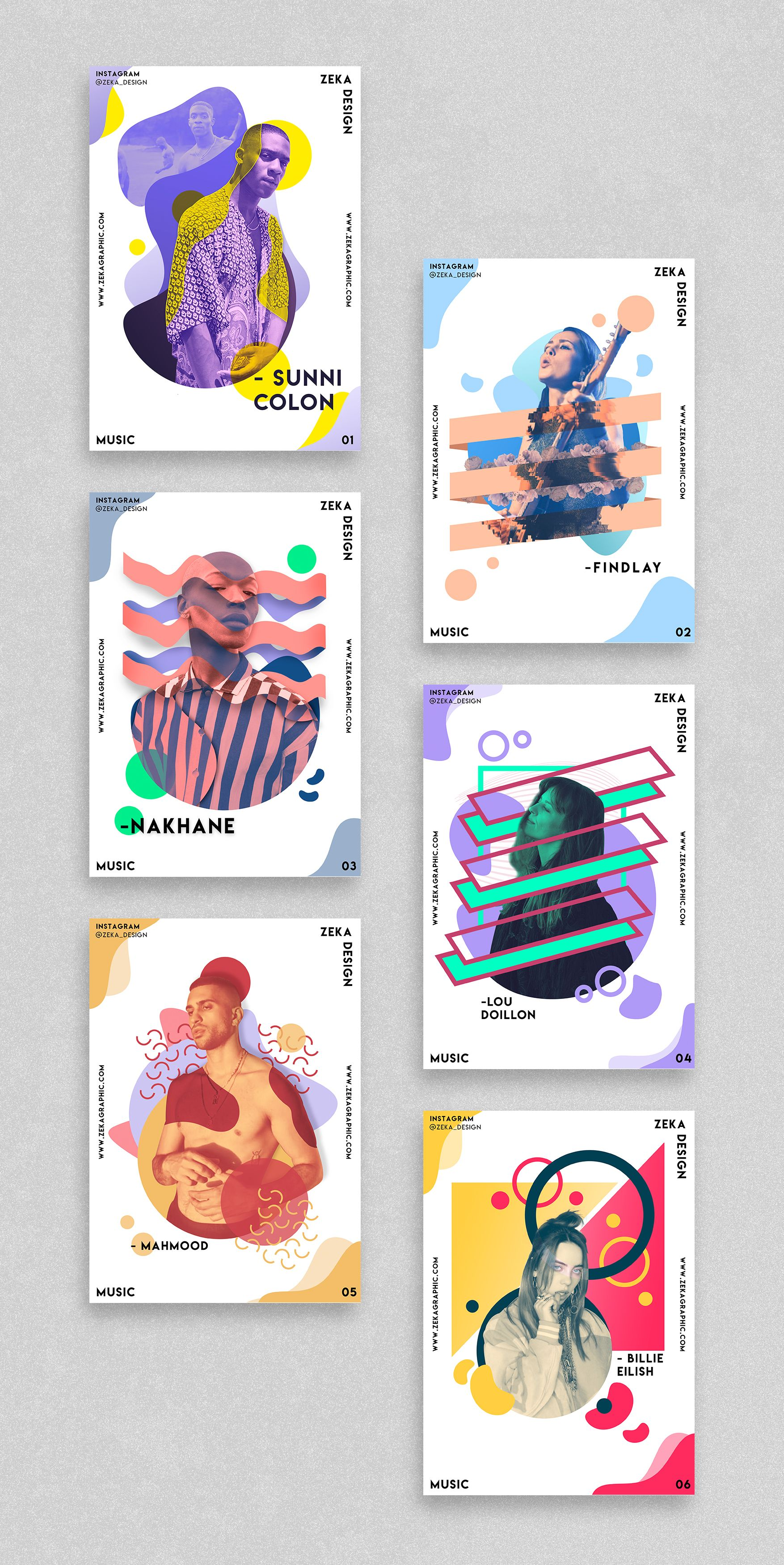 Music Poster Design Project Graphic Design Inspiration by Zeka Design