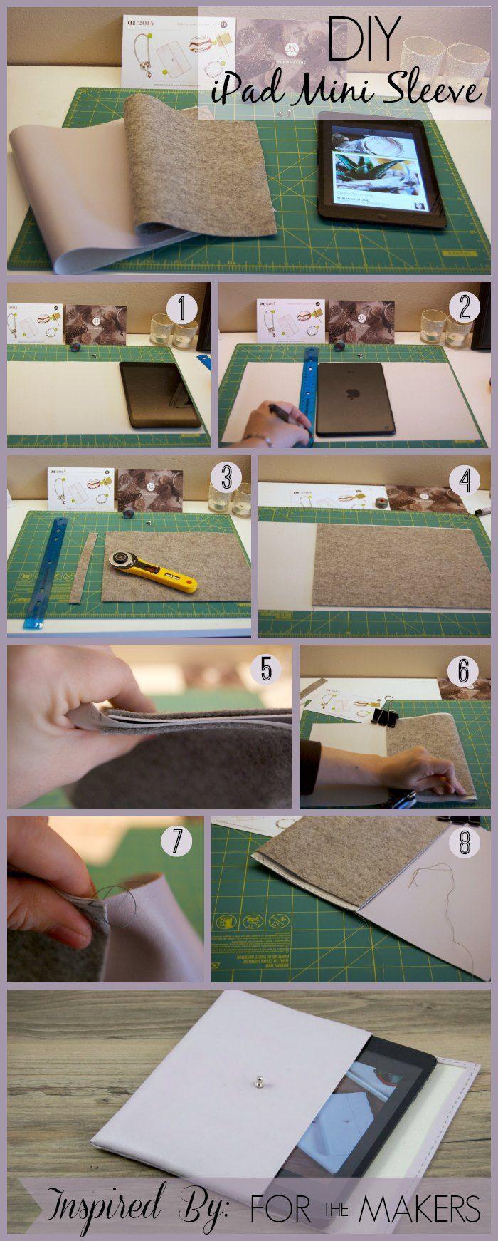 """DIY Nightfall """"Leather"""" iPad Mini Case   Diy leather ipad ..."""