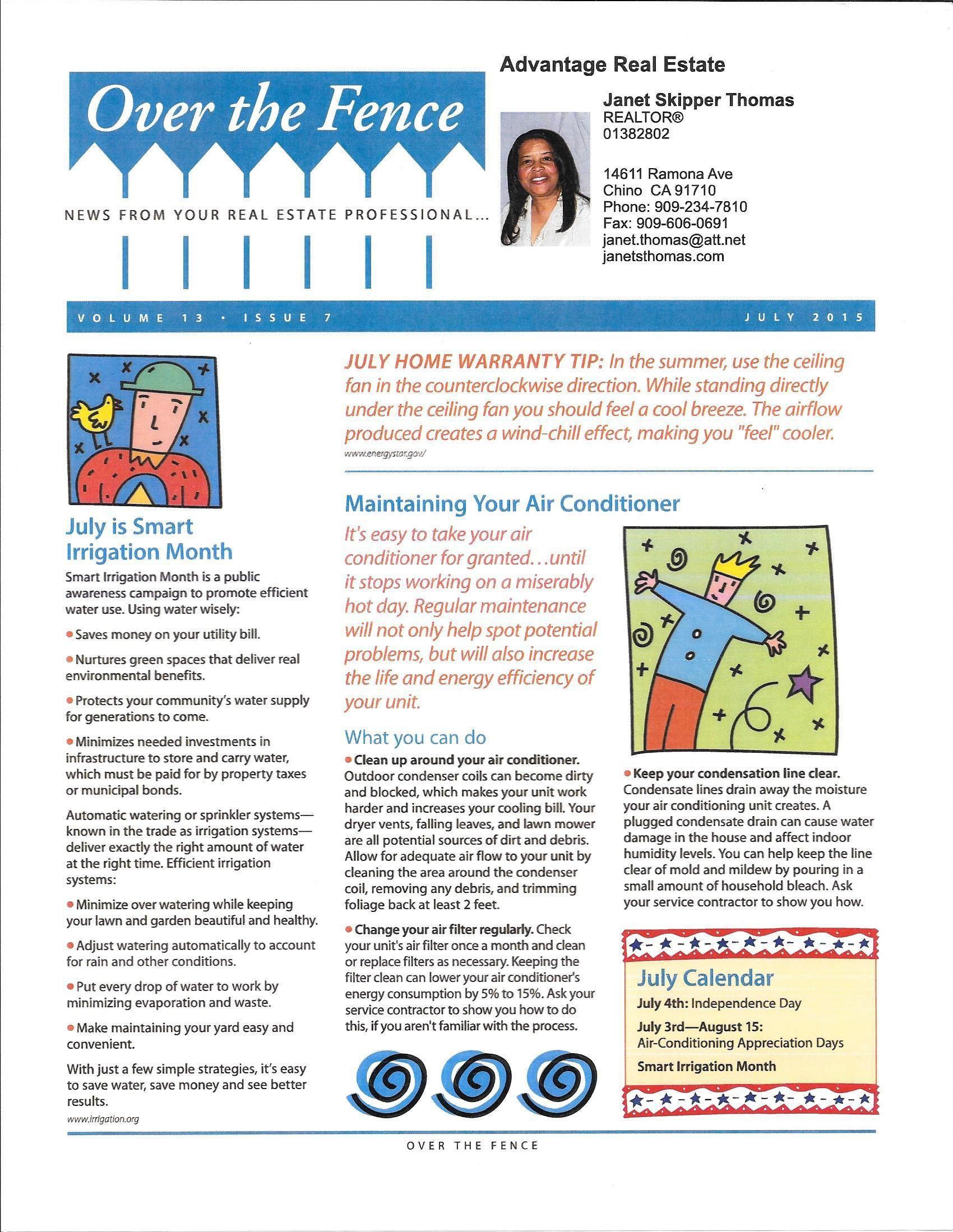 July Real Estate Newsletter 1 2 Newsletter Examples Real Estate Newsletter Las Vegas Real Estate