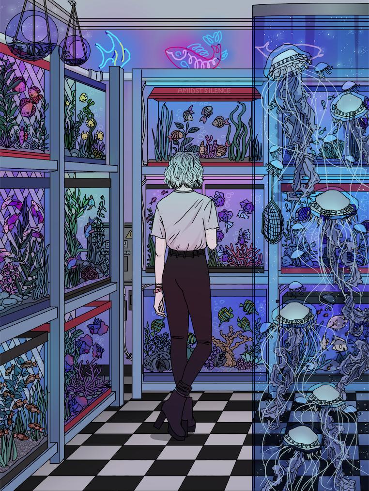 """amidstsilence """" Aquarium """" Producción artística"""