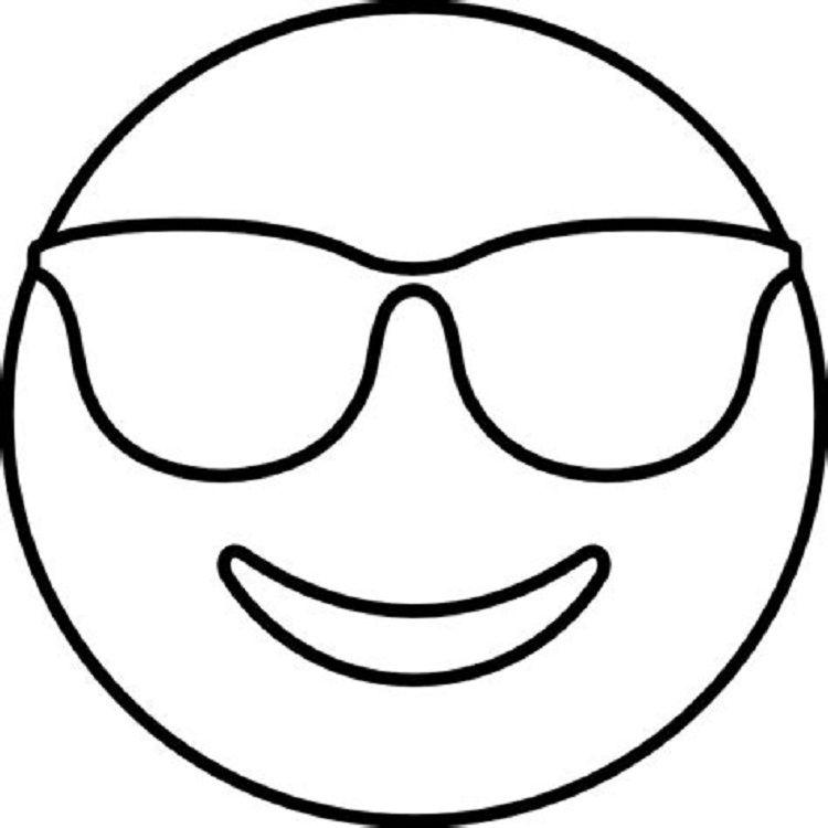 Glasses Emoji Coloring Pages Emoji Coloring Pages Emoji